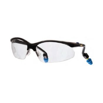 Safety Eyewear with PermaPlug, Clear Anti-Fog Lenses