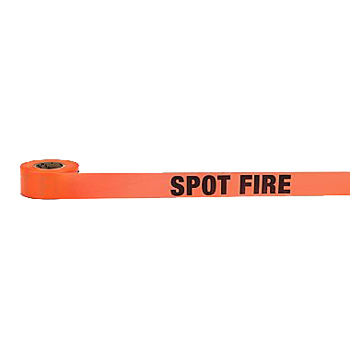 "Spot Fire - Glo Orange Flag TapeSpot Fire - Glo Orange Flag Tape (1-1/2"" w x 50 yds) - Wildland Warehouse 