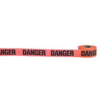 "Danger Glo Orange Flag Tape (1-1/2"" w x 50 yds)"