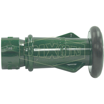 "3/4"" Green Plastic Fog/Straight Stream Nozzle - Wildland Warehouse 