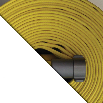 FLD Yellow Rubber Encapsulated Forestry Hose - coupled - Wildland Warehouse | Gear for Wildland Fire