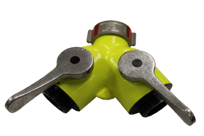 "HIGH VISIBILITY 1"" NH FEMALE INLET WITH 2 X 1"" NH MALE OUTLETS HIGH VIZ® - Wildland Warehouse 