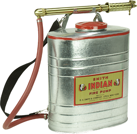 90G Classic Indian Galvanized Steel Backpack Tank - Wildland Warehouse | Gear for Wildland Fire