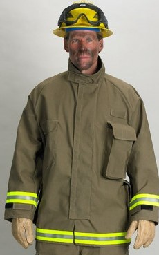 Khaki Nomex Overjacket W/ Triple Trim