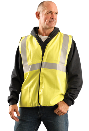 Classic FR Single Stripe Solid Reflective Vest - Wildland Warehouse | Gear for Wildland Fire