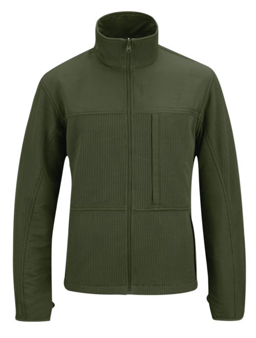 Full Zip Tech Sweater - Olive