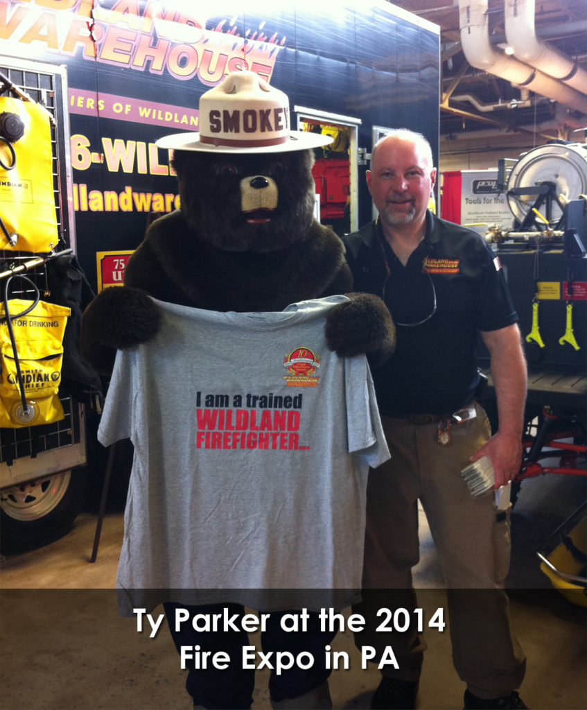Ty Parker and Smokey the Bear 2014 Fire Expo